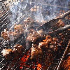 塩水ムネ肉の炉端焼き