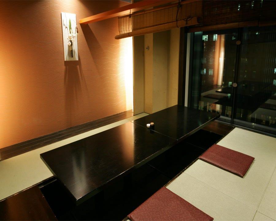 東京夜景を望める洗練された和空間