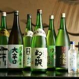ワインのほか全国の蔵元からよりすぐった銘酒や焼酎も充実