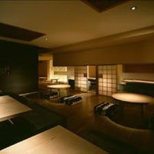 茶室風な掘りごたつソファー個室