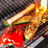 ◆丁寧に育てられた旬の地野菜を味わうには炭火焼きが一番!