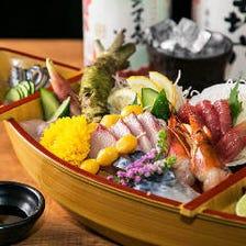 新鮮九州鮮魚にこだわった盛り合わせ
