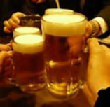 焼肉との相性抜群! ビールで乾杯!