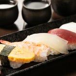職人が握る寿司もお楽しみください