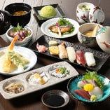 新鮮魚介、寿司、天ぷら…旬の旨みたっぷりの日本料理をご堪能いただけます