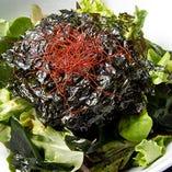 国産ワカメと韓国海苔のサラダ SEAWEED SALAD