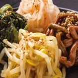 ナムル4種盛 ASSORTED KOREAN NAMUL SEAFOOD VEGETABLES