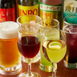 ワイン、紹興酒など中華に合うドリンクを豊富に取り揃え
