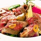 牛ランプ肉のタリアータ