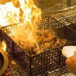 炭火の香りをまとった宮崎鶏は絶品です!ぜひご賞味ください