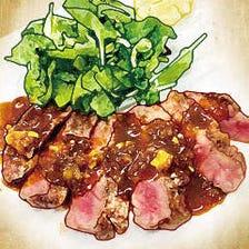 国産牛リブロース芯の霜降りステーキ ~濃厚赤ワインソース~