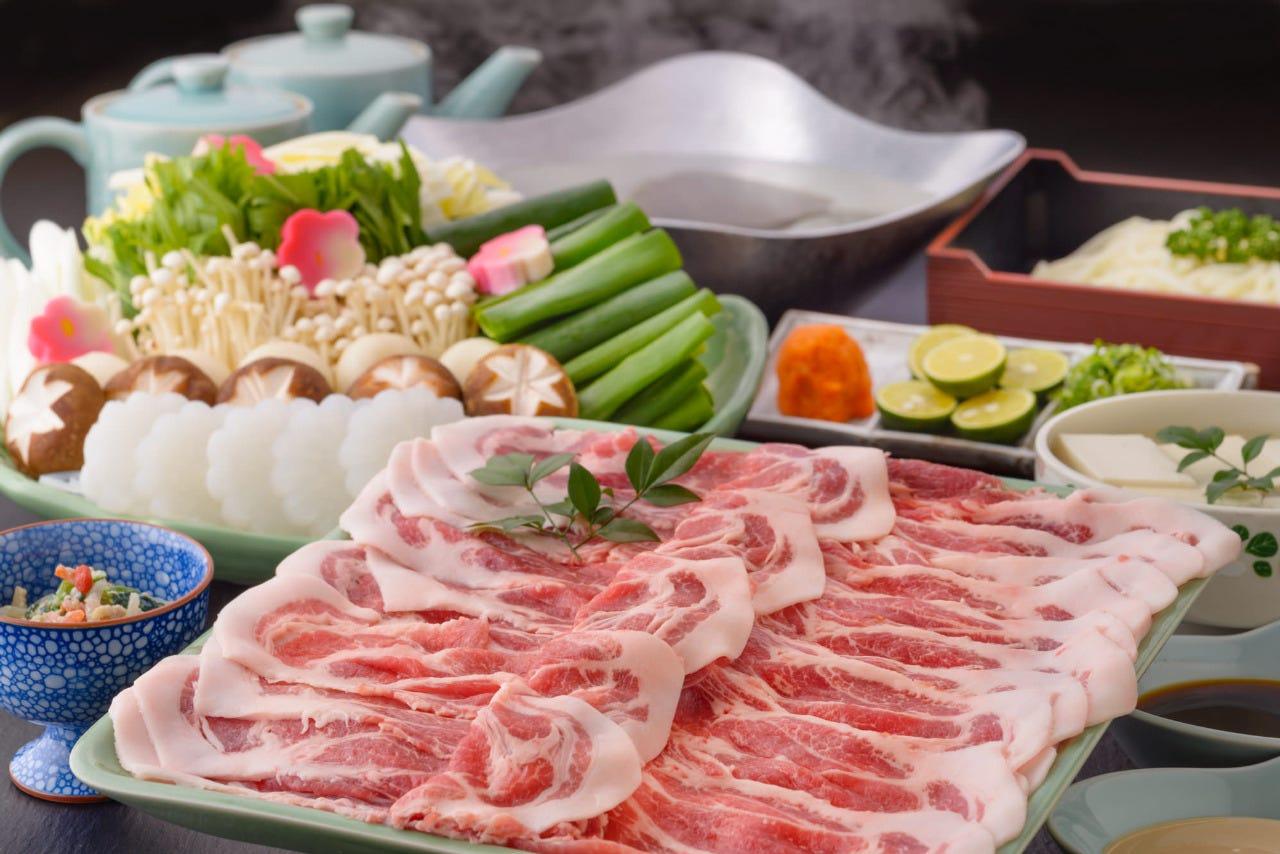 【宴会におすすめ】飲み放題付き!京都丹波産豚肉のしゃぶしゃぶ宴会コース