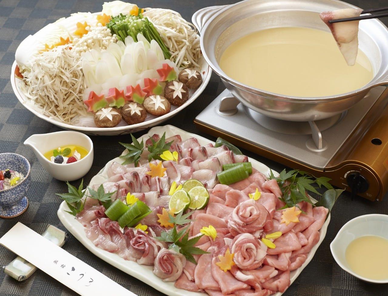 【宴会におすすめ】飲み放題付き!ブリと豚を一緒に楽しめるBURITON(ぶりとん)鍋宴会コース