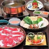 ■国産牛しゃぶしゃぶ食べ放題コース
