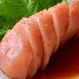 やまやの明太子と辛子高菜、ランチタイムはお好きなだけどうぞ!