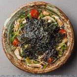 蒸し鶏と明太海苔サラダ