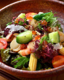 10品目のたっぷり野菜と海鮮サラダ