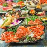 ウニや蟹やイクラなど!厳選食材を用いた料理の数々をご堪能♪