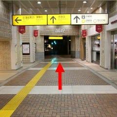 ②不忍口まで来たら駅構内を出て右へ進みます。