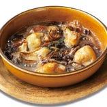 牡蠣とグアンチャーレの石窯焼き