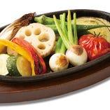 旬野菜7種石窯焼き