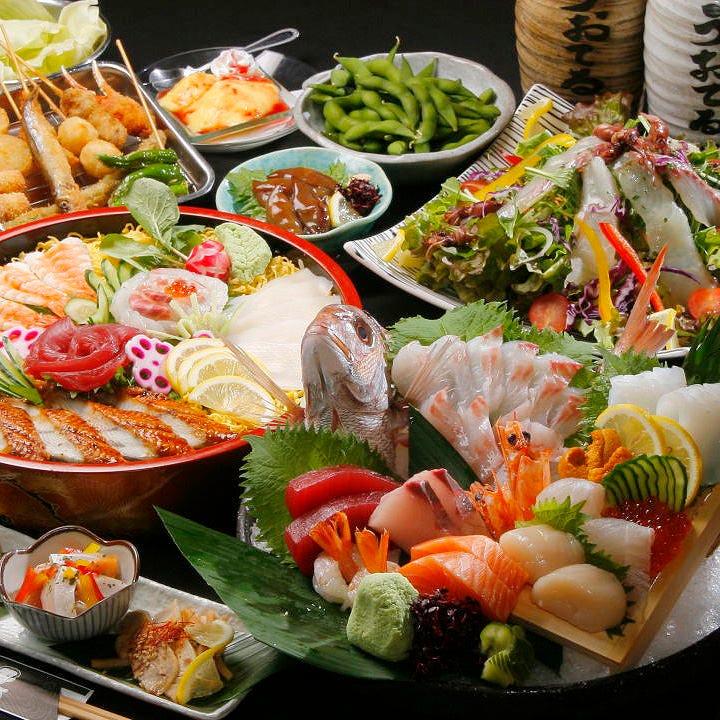 姿盛り・ちらし寿司・串かつ 大満足