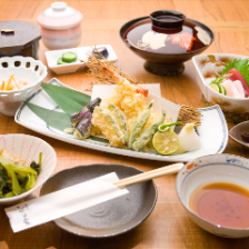 天ぷら御膳(うどん・そば)付