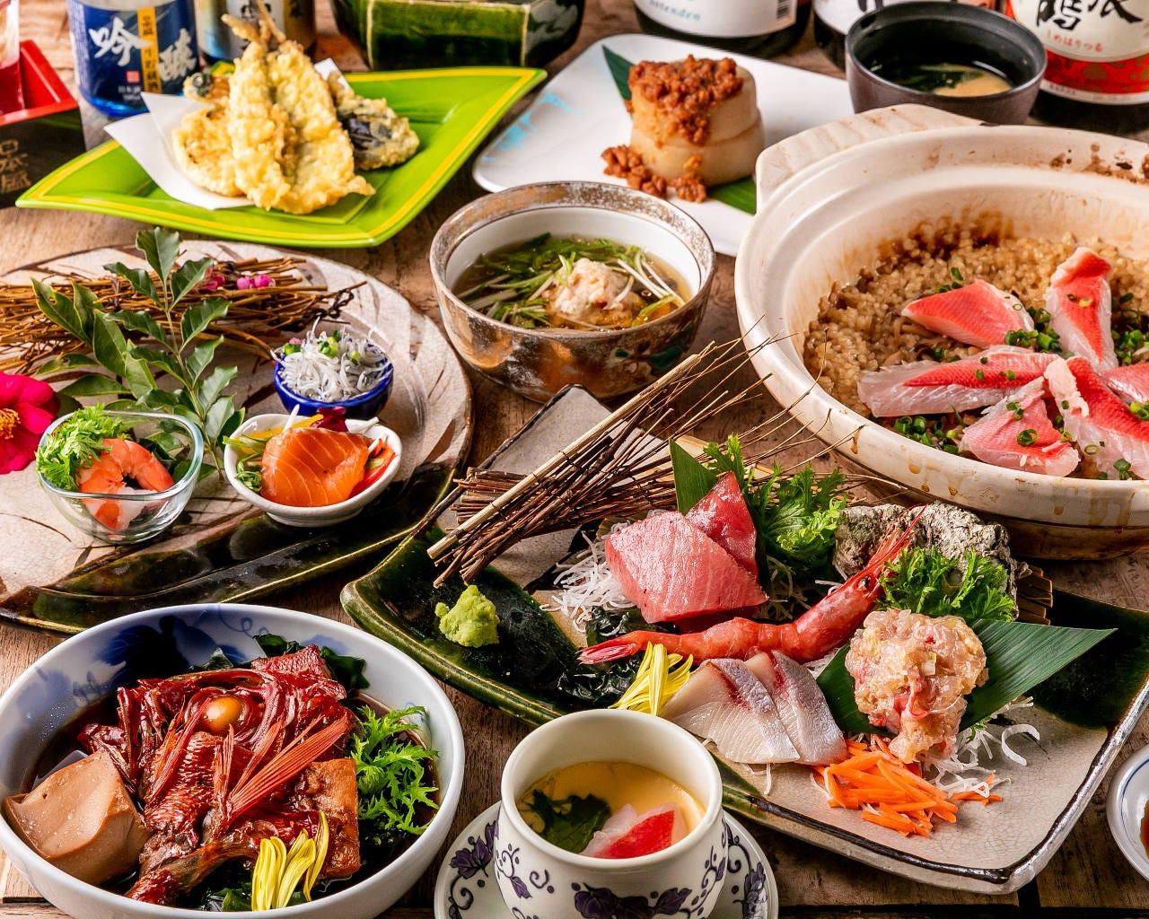【4月~6月限定】個別盛り!『美味しい伊豆地金目鯛の会席』金目鯛で始まり金目鯛で終わる!