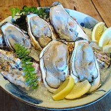 『生牡蠣や活ホタテ』 海の旨味エキスがたっぷり!
