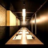 落ち着いた広々個室 20名様までの人気の団体個室です。