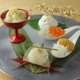 四季折々の食材に合わせた五感で楽しむ米料理を提供しています。
