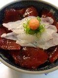 ふぐ刺し鉄火丼(ふぐやの御饌丼)
