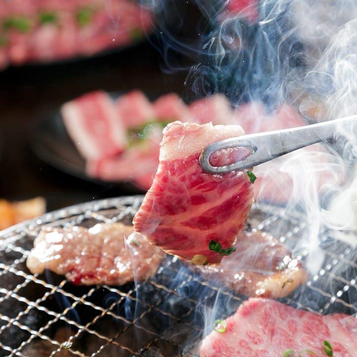 七輪で焼く、自慢の黒毛和牛をリーズナブルに堪能ください。