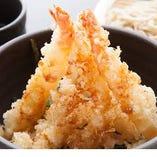 エビだけ天丼(ミニ蕎麦セット)