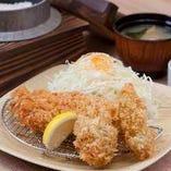 熟成ロースかつ&広島産牡蠣フライ定食