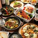 パーティ用のお食事は、食べ放題とコースの両方をご用意しています!