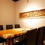 テーブル半個室【4~6名様×2部屋】接待やご家族の慶事、少人数利用にも最適