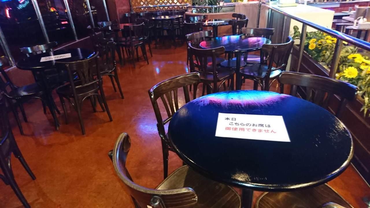 コロナ対策 テーブル配置