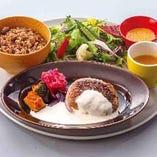 【ランチ】豆腐ハンパーグ チーズソースプレート