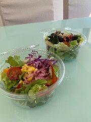 野菜のサラダ/海藻とおからのサラダ