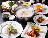 水炊きコース11.000円(税込・サービス料10%)(ディナー)