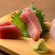 三崎港から直送♪まぐろ料理が絶品!