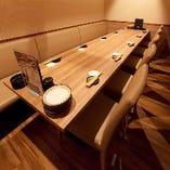 最大10名様収容可能な個室も完備