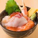 ぶり盛り北海丼