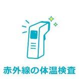 〈2〉ご入店前に非接触型体温計による体温検査にご協力をお願いしております