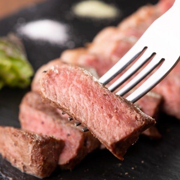 50日間熟成牛のイチボステーキ150g¥1880