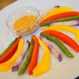 彩り野菜のディップソース