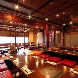 【大きな宴会場】 個室の宴会場は50名様までご利用可能!