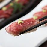 鹿児島牛の握り寿司(5貫)