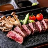 鹿児島黒毛和牛のステーキ
